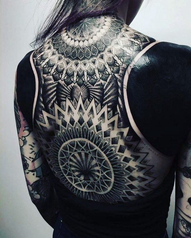 Blackwork tribal tattoo