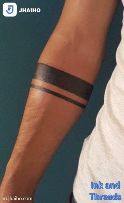 Black armband tattoo done in Bangalore