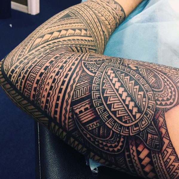 Tribal turtle tattoo