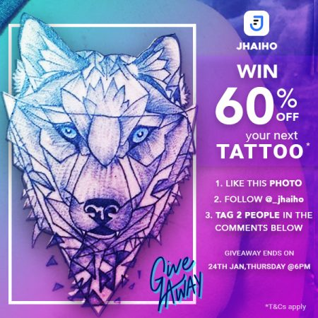 Jhaiho 60% off tattoo