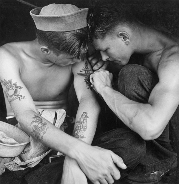 Sailor tattoos are credited as having brought tattooing to the world
