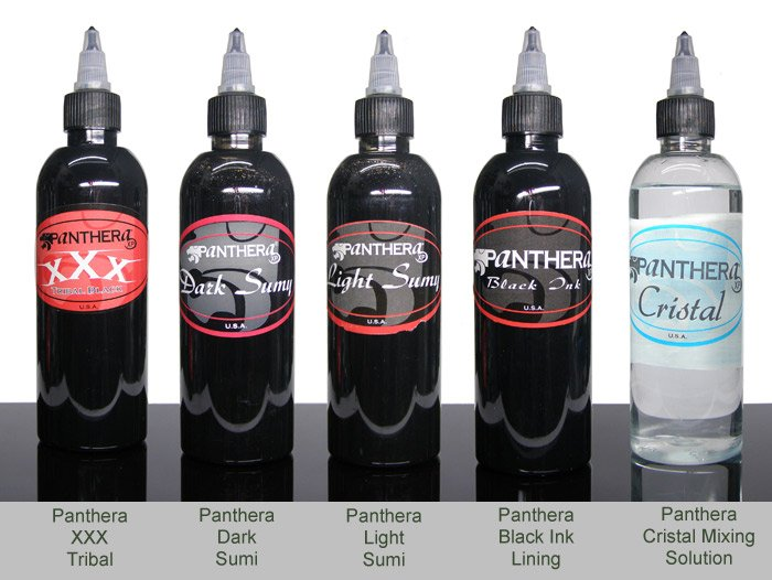 Tattoo inks range from Panthera