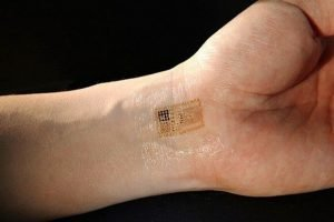 A biometric tattoo that is extremely minimalist and nearly invisible