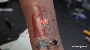 A biometric tattoo from a pioneer in the field, Chaotic Moon
