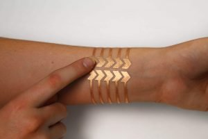 A biometric tattoo referred to as 'gold leaf' developed by MIT and Microsoft