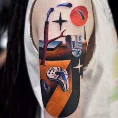 Dali's 'The Persistence of Time' and Star Wars-themed tattoo from thetattooshop