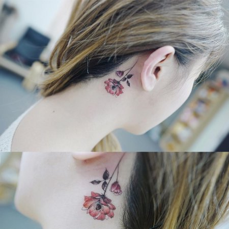 tattoos behind the ear