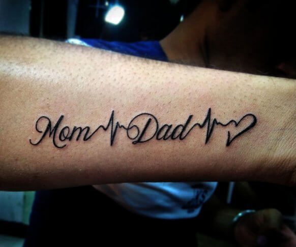 Family Heartbeat Tattoo