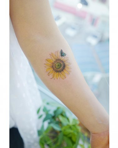 Sunflower Tattoo Images