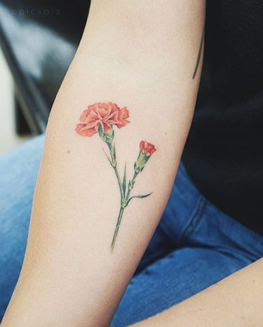 Realistic Flower Tattoo