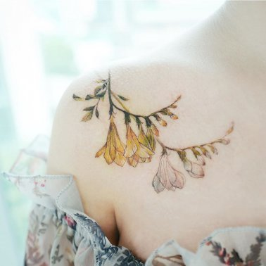Mariegold Flower Tattoo