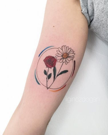 Daisy Rose Tattoo