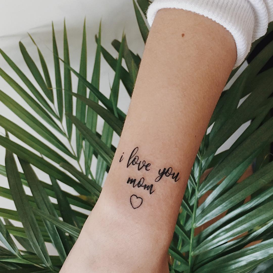 I love you tattoo images