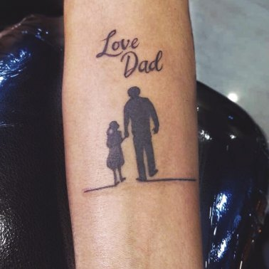 Father Daughter Script Tattoo
