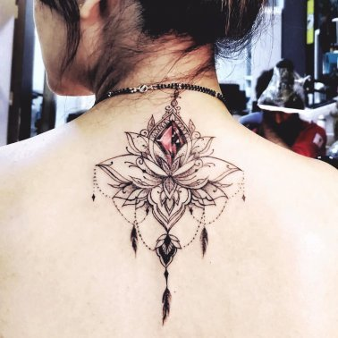 Stylish Lotus Tattoo