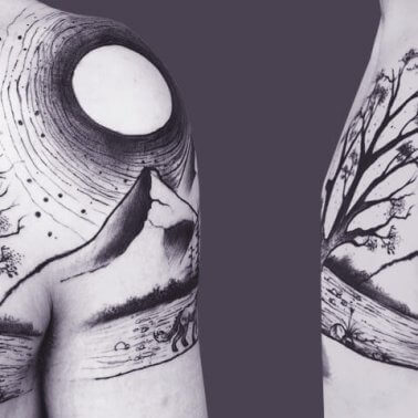 Surrealistic Nature Tattoo