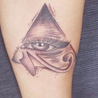 Realistic Illuminati Eye Tattoo