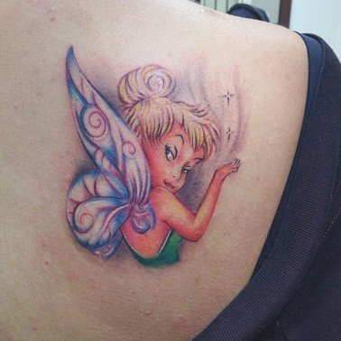 Illustrative Fairy Tattoo
