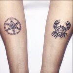 Geometric Cancer and Pisces Tattoo
