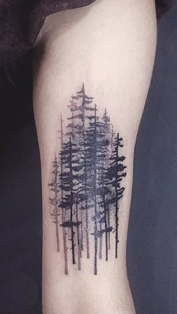 Abstract Forest Tattoo