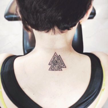Viking Triangle Tattoo
