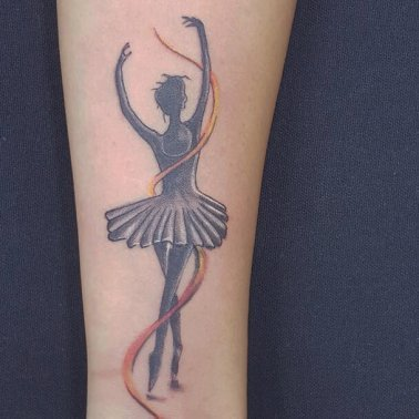 Ballet Dancer Silhouette Tattoo