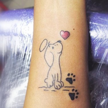 Minimalistic Dog Tattoo