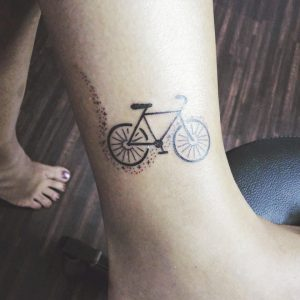 Abstract Bicycle Tattoo