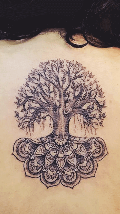 Ornamental Bodhi Tree Tattoo