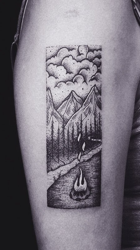 Abstract Nature Tattoo