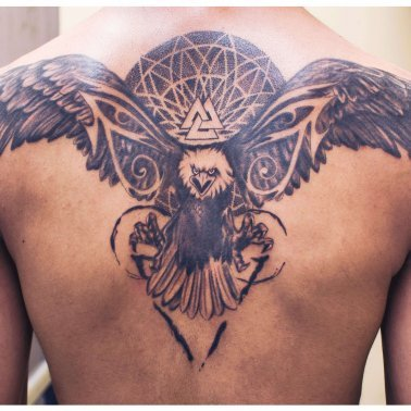 Back Eagle Tattoo