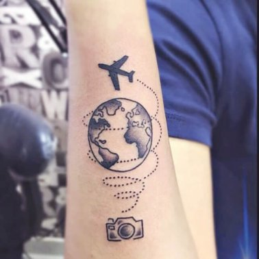 Abstract Wanderlust Tattoo