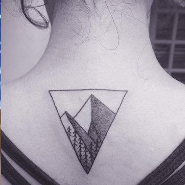 Triangle nature tattoo