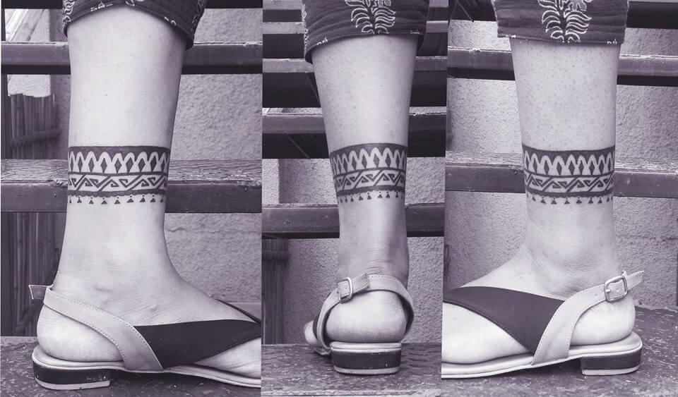 Tribal Ankle Band Tattoo