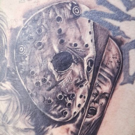 Abstract Friday The 13th Tattoo