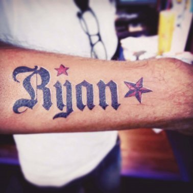 Name Star Tattoo