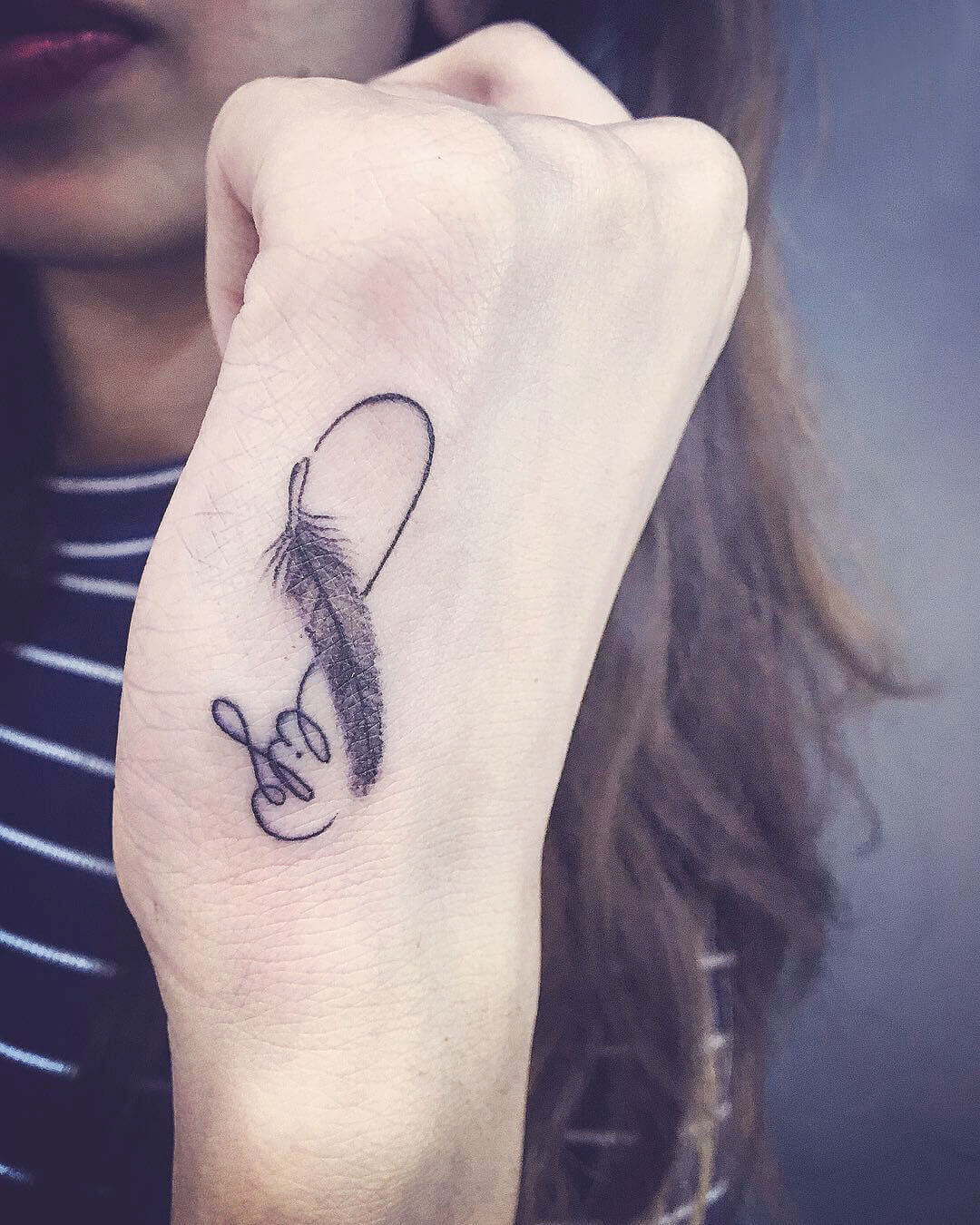 Life Feather Infinity Tattoo