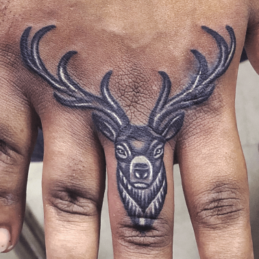 Abstract Stag Tattoo