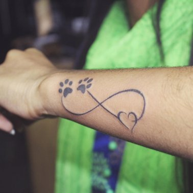 Infinity dog love tattoo