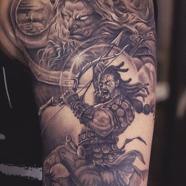 Greek Mythological Warrior Tattoo