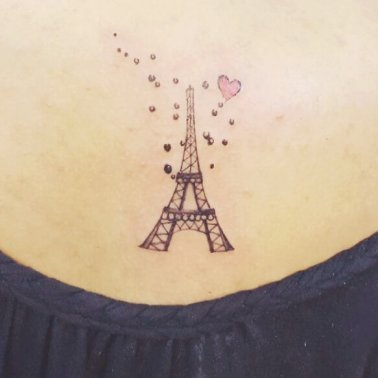 Minimilistic Eiffel Tower Tattoo