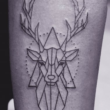 Geometric Stag Tattoo
