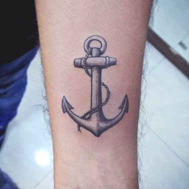 Minimalistic Anchor Tattoo