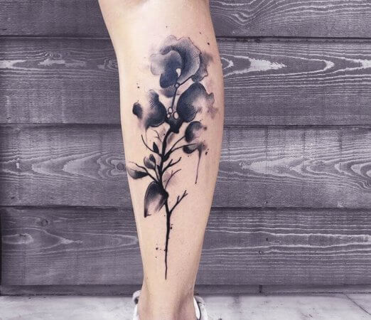 Water Colour Rose Tattoo