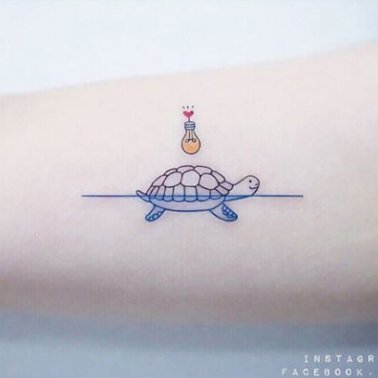 Heart Turtle Tattoo