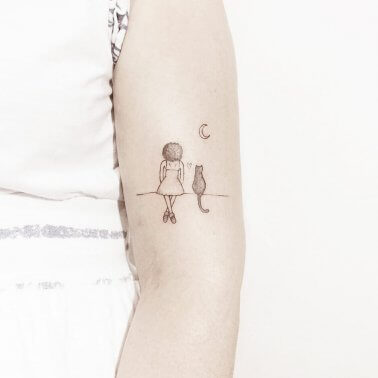 Minimalistic Pet Tattoo