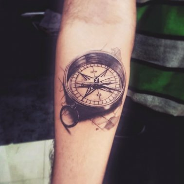 Compass Travel Tattoo