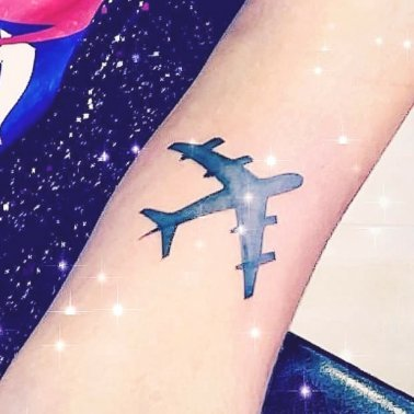 Simple Airplane Tattoo