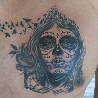 Gothic Portrait Tattoo