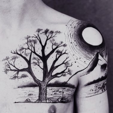 Nature Chest Tattoo